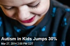 Autism in Kids Jumps 30%