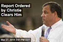 Report Ordered by Christie Clears Him