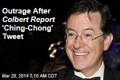 Outrage After Colbert Report 'Ching-Chong' Tweet