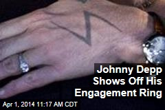 Johnny Depp Shows Off His Engagement Ring