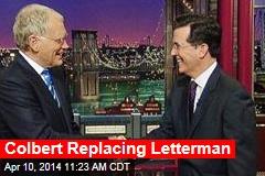 Colbert Replacing Letterman