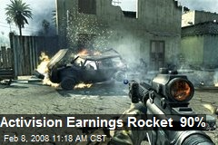 Activision Earnings Rocket 90%