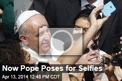 Pope Poses for Selfies After Palm Sunday Remarks