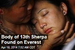 Body of 13th Sherpa Found on Everest