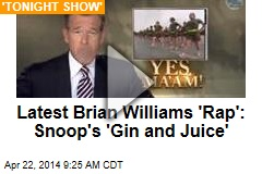 Latest Brian Williams 'Rap': Snoop's 'Gin and Juice'