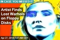 Artist Finds Lost Warhols on Floppy Disk