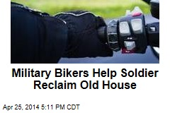 Bike Gang Helps Veteran Reclaim His Old House