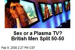 Sex or a Plasma TV? British Men Split 50-50