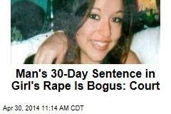 Mont. Court Dumps 30-Day Sentence in Girl's Rape