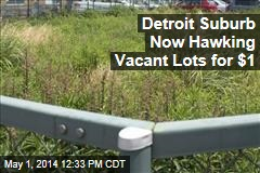 Detroit Suburb Now Hawking Vacant Lots for $1