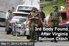 3rd Body Found After Virginia Balloon Crash