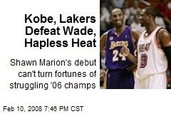 Kobe, Lakers Defeat Wade, Hapless Heat