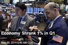 Economy Shrank 1% in Q1