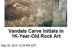 Vandals Carve Initials in 1K-Year-Old Rock Art