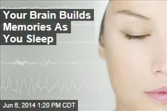 Your Brain Builds Memories As You Sleep