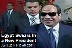 Egypt Swears In a New President
