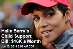 Halle Berry's Monthly Child Support Bill: $16K