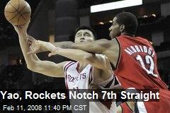 Yao, Rockets Notch 7th Straight