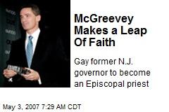 McGreevey Makes a Leap Of Faith