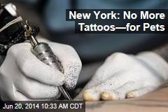 New York: No More Tattoos—for Pets