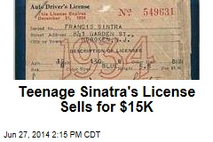 Teenage Sinatra's License Sells for $15K