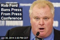 Rob Ford: 'I'm Ashamed and Humiliated'
