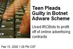 Teen Pleads Guilty in Botnet Adware Scheme