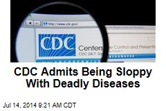 CDC Admits Being Sloppy With Deadly Diseases