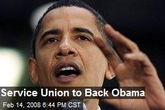 Service Union to Back Obama