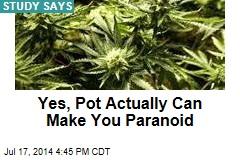Yes, Pot Actually Can Make You Paranoid