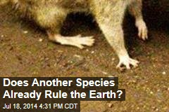 Does Another Species Already Rule the Earth?
