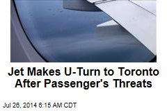 Jet Makes U-Turn to Toronto After Passenger's Threats