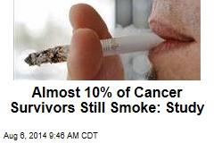 Almost 10% of Cancer Survivors Still Smoke: Study
