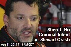 Sheriff: No Criminal Intent in Stewart Crash