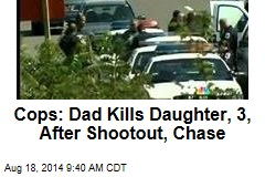 Cops: Dad Kills Daughter, 3, After Shootout, Chase