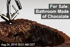 For Sale: Bathroom Made of Chocolate