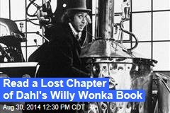 Read a Lost Chapter of Dahl's Willy Wonka Book