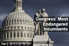 Congress' Most Endangered Incumbents