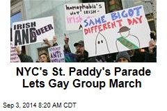 NYC's St. Paddy's Parade Lets Gay Group March