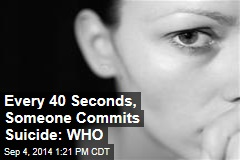Every 40 Seconds, Someone Commits Suicide: WHO