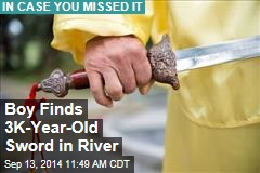 Boy Finds 3K-Year-Old Sword in River