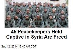 Syria Rebels Free 45 Fiji Peacekeepers