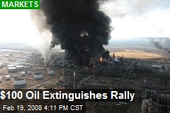 $100 Oil Extinguishes Rally