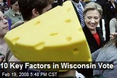 10 Key Factors in Wisconsin Vote