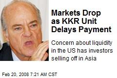 Markets Drop as KKR Unit Delays Payment