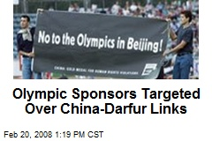Olympic Sponsors Targeted Over China-Darfur Links