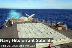 Navy Hits Errant Satellite