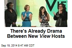 There's Already Drama Between New View Hosts
