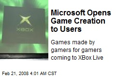 Microsoft Opens Game Creation to Users