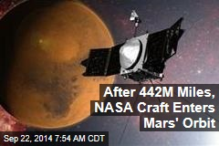 NASA Spacecraft Enters Mars' Orbit